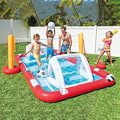 LGLE Juego de juguetes inflable de la piscina del baloncesto de la piscina, inflable piscina del anillo de remo, juguetes del agua piscina remal, 325X267X102cm,