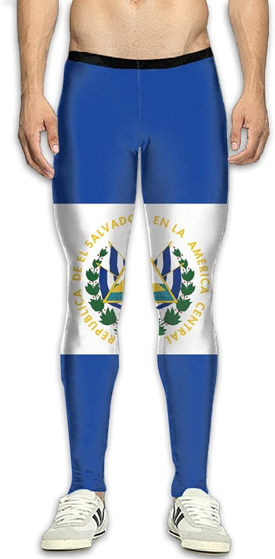Dfdffrfrwqq El Salvador Flag Men's Active Basic Athletic Skinny Track Pants