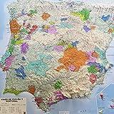 Vinos de España y Portugal: Mapa en relieve