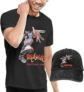 GabrielR Men's Limp Bizkit Significant Other T-Shirt and Washed Denim Baseball Dad Hat Black
