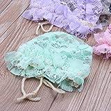 junengSO Spring cap Newborn Baby Summer Sweet Hat Princess Lace Infant Girl Beanie Ruffles Lace-up Baby Photo Puntelli Accessori Bonnet