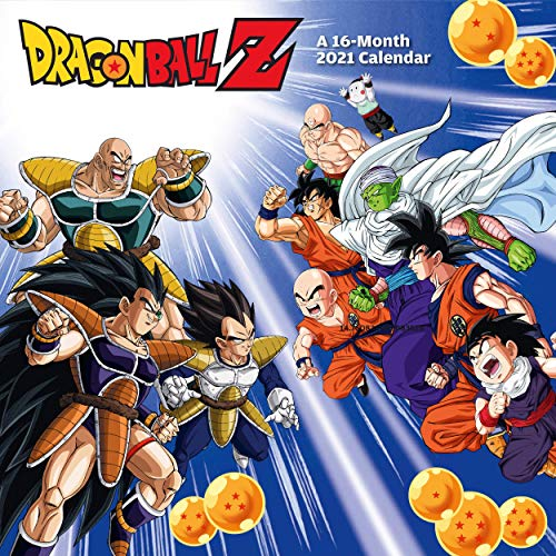 Dragon Ball Z 12 Month 2021 Wall Calendar Official Square Calendar with Organising Stickers