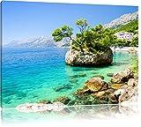 Pixxprint Wunderschöner Dalmatia Strand in Kroatien,