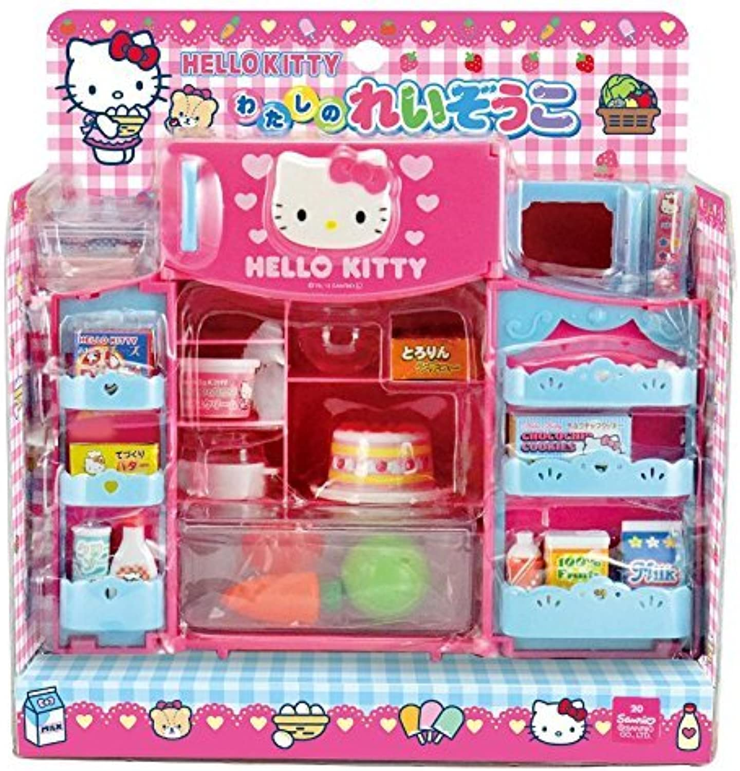 Con 100% de calidad y servicio de% 100. Cute Hello Kitty Refrigerator & Microwave with Various Foods Foods Foods & Other Products by Hello Kitty  salida