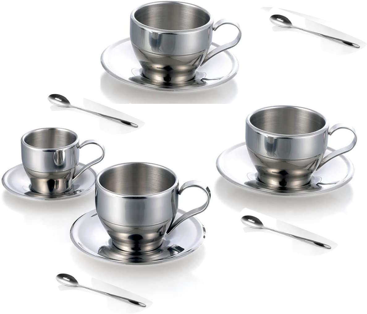 mart Jasni Stainless Steel Coffee Cup Mugs G SEAL limited product and Espresso Cups