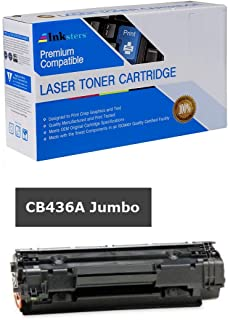 Inksters Compatible Black Toner Cartridge Replacement for HP 36A CB436A(J) Black Jumbo - Compatible with Laserjet P1505 P1505N M1522N M1522N MFP M1522NF MFP M1120 M1120N - More Yield