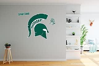 Nudge Printing Classic Michigan State University Spartan Helmet Sparty Head - XL MSU Wall Decal Sticker Set Peel and Stick