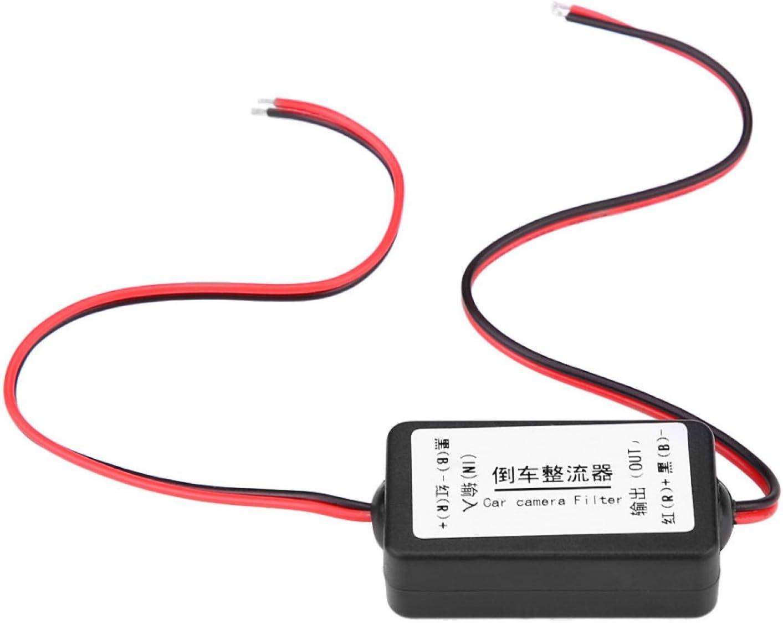 Rectificador de filtro de relé autoadhesivo de 12 V CC, filtro de condensador de relé de cámara de visión trasera adecuado estándar para modificación de coche
