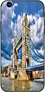 Phone Case Compatible with iphone6 iphone6s Mobile Phone Covers Phone Shell BrandNew Tempered Glass Backplane,London,Historical Tower Bridge on River London UK British Day Time International Heritage
