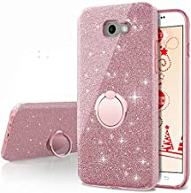 Galaxy A5 2017 Case,Silverback Girls Bling Glitter Sparkle Cute Phone Case with 360 Rotating Ring Stand, Soft TPU Outer Cover + Hard PC Inner Shell Skin for Samsung Galaxy A5 2017 -Rose Gold