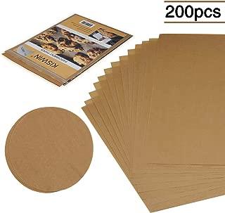 KISWIN Unbleached Parchment Paper for Baking, Precut 200 Pcs Nonstick Parchment Baking Sheets Pan Liners - 100 Pcs 12x16 Inches Rectangle & 100 Pcs 7 Inches Round Baking Paper