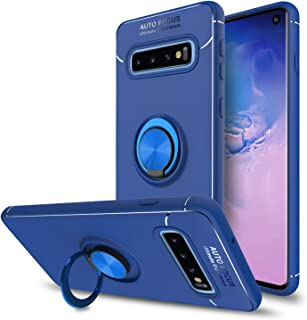 Elegant Choise Galaxy S10 Case, 360 Degree Rotating Ring Holder Stand Hybrid Slim Soft TPU Scratch Resistant Protective Case Fit Magnetic Car Mount Cover for Samsung Galaxy S10 6.1 inch(Blue)