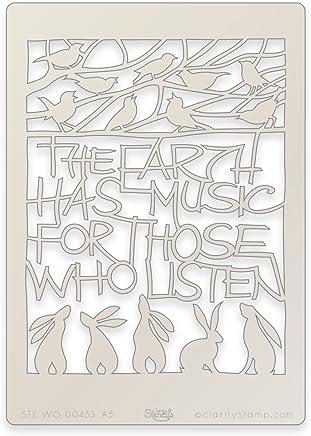 Clarity Stencils Branche dolivier Couronne Pochoir 17,8/x 17,8/cm