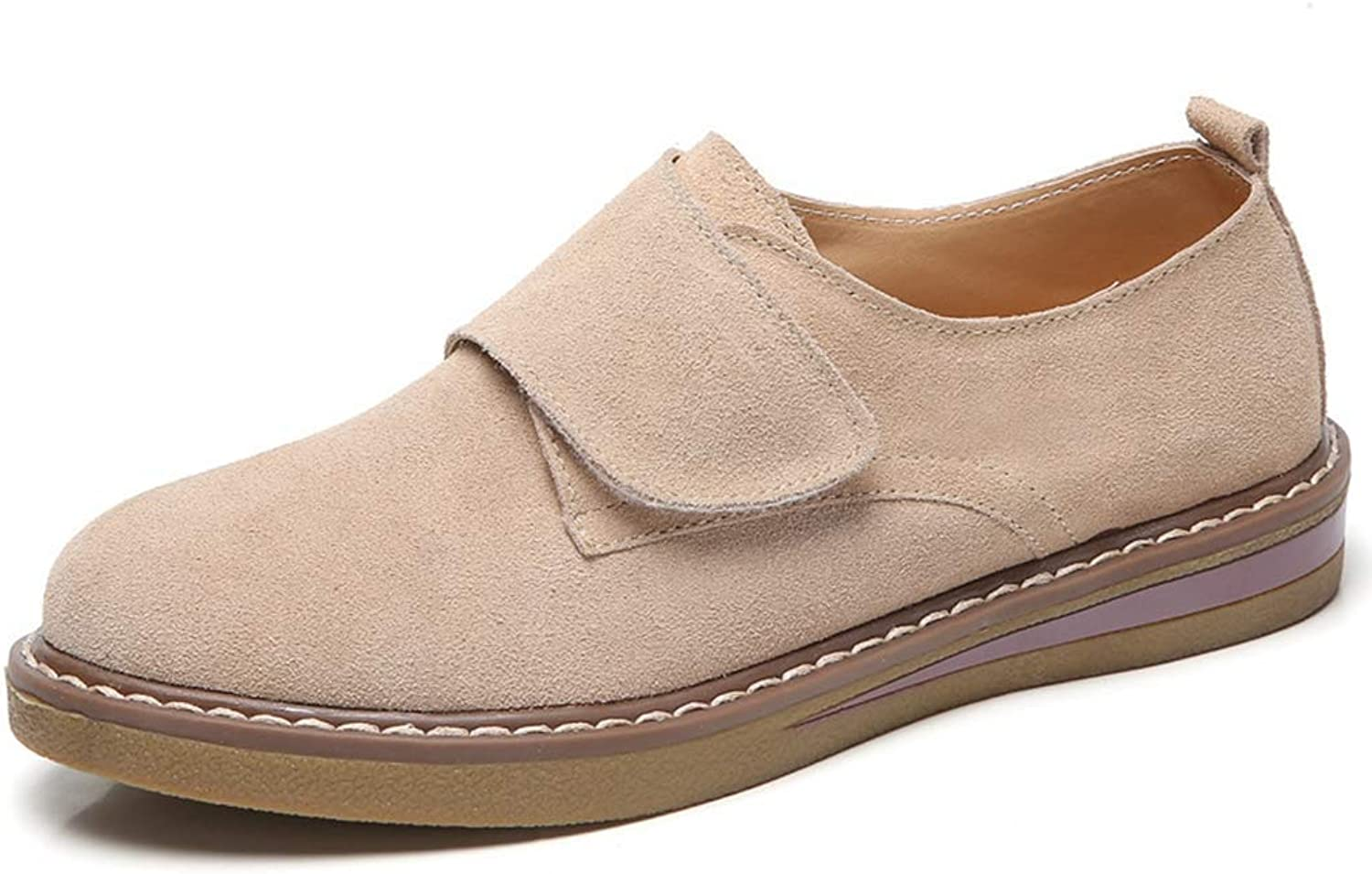 Beautiful - Fashion Women's Flat Heel Loafers Classic Handsewn Suede Leather Driving Moccasins Penny Loafers Casual Slip On Fashion Boat shoes
