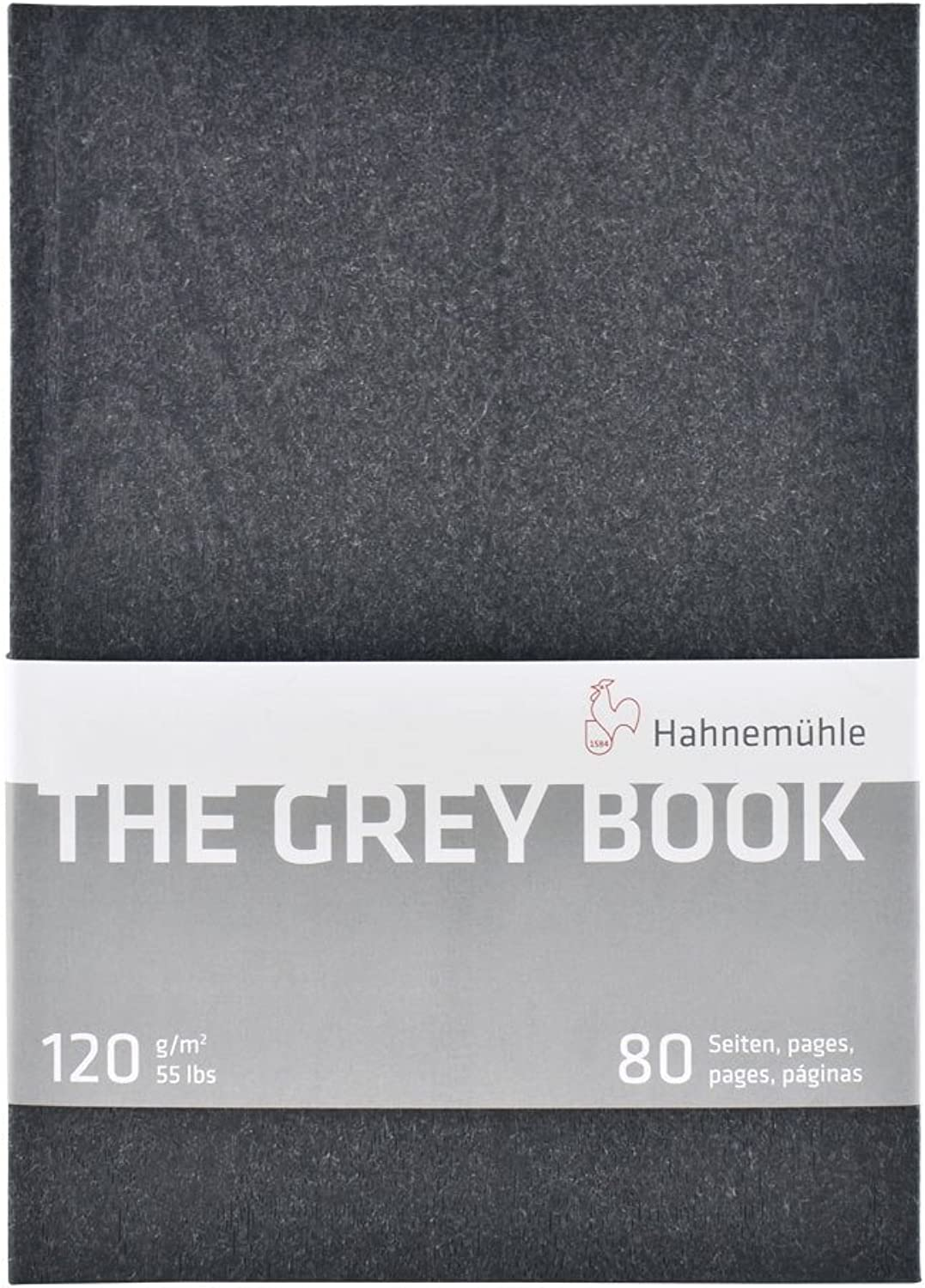 Hahnemuhle Grey Book Sketch Book A5 (8.3x5.8 inches) 120gsm 40 sheets 80 pages