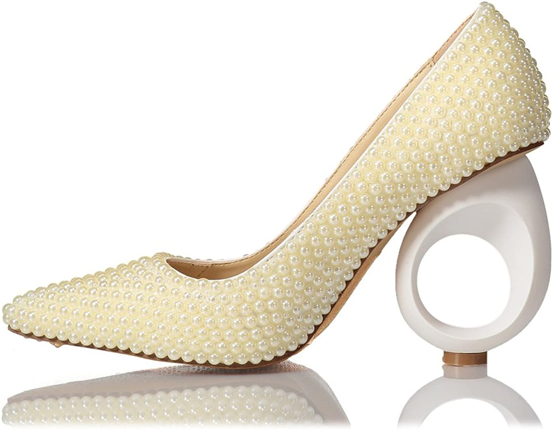 Lacitena Women's High Heels,Pearl High Heels,Crystal High Heels, Bridal Bridesmaid High Heels