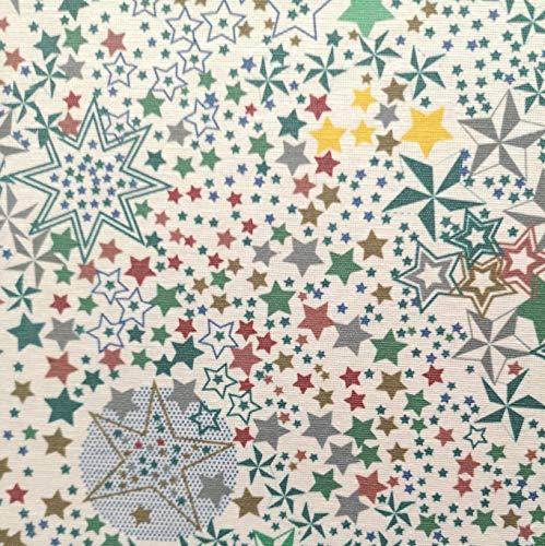 Staab's Beschichtete Baumwolle Sterne grün (Meterware, Qualität Zum Nähen) (100 x 140 cm)