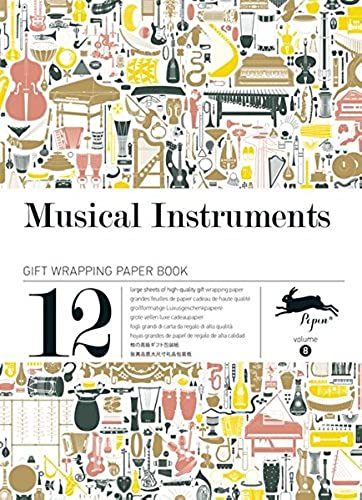 Musical Instruments Gift Creative Paper Book Vol 08 Gift Wrapping Paper Book