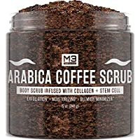 M3 Naturals Arabica Coffee Scrub Infused With Collagen & Stem Cell