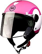 BHR 93777 Demi-Jet Love 710 Casco de Moto, Color Rosa, Talla 55/56 (S)