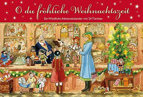 O du fröhliche Weihnachtszeit: Ein Windlicht-Adventskalender mit 24 Türchen