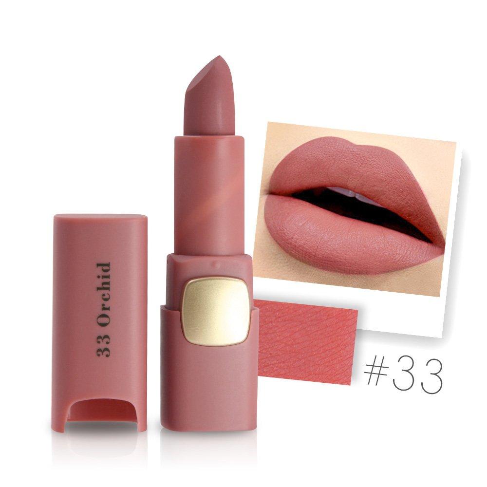 振動する具体的にマージンMiss Rose Brand Matte Lipstick Waterproof Lips Moisturizing Easy To Wear Makeup Lip Sticks Gloss Lipsticks Cosmetic