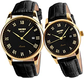 Watches for Couples Men and Women His and Hers Pair Watch Set Husband Wife Valentines Matching Wrist Watch Wedding Gifts W...