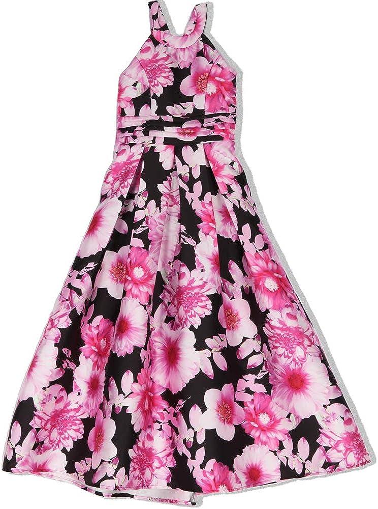Speechless Girls' Big Full Length Formal Circle-Neck Maxi Dress