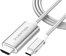 LENTION USB C to HDMI 2.0 Cable Adapter (4K/60Hz) Compatible MacBook Pro (Thunderbolt 3), New iPad Pro and Mac Air, Chromebook, Surface Book 2/Go, Samsung S10/S9/S8/Plus, More (6 Feet, Silver)