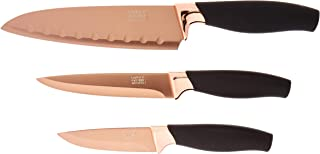 Taylor's Eye Witness TEW-LMS23RGBS22 Brooklyn 3 Piece Knife Set in Rose Gold, 6