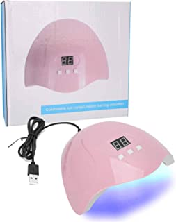 54W Lámpara de secado de esmalte de uñas Máquina de luz de manicura Dispositivo de luz de curado para arte de uñas UV para uso profesional para artistas de uñas para uso en salones de uñas