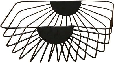 Nordic smeedijzeren moderne minimalistische woonkamer fruitmand multifunctionele fruitschaal (kleur: zwart, maat: L)