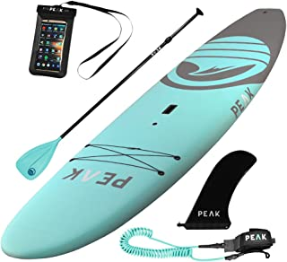 Peak Escape Stand Up Paddle Board | Rigid Hard Soft Top SUP Package | 32