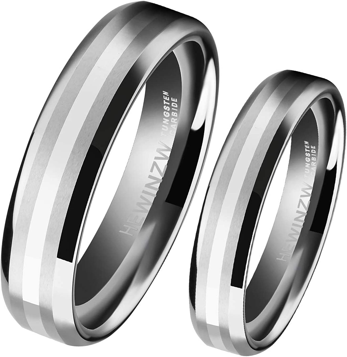 Max 53% OFF HEWINZW Tungsten Rings Limited price sale for His and 14k Her 8mm Center Inlaid 6mm