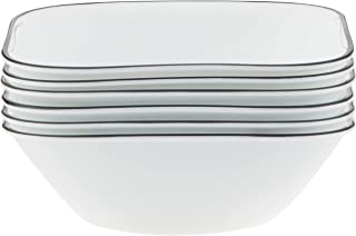 Corelle 18-Piece Chip Resistant Simple Lines Dinnerware Set, Service for 6 Bowl 1107745