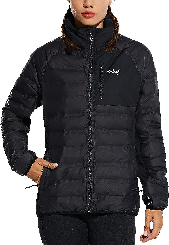 BALEAF Women's Ultra Lightweight Full-Zip Warm Quilted Puffer Jacket Cotton Filling Winter Coat