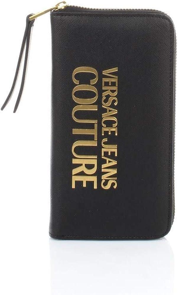 Versace jeans, portafoglio da donna, in pelle sintetica, con logo in ottone, porta carte di credito EE3VWAPL1-E71879_E899