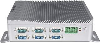 HISTTON Mini Computadora Industrial, 4-Core Intel Celeron J1900 Windows 10 Pro, 4GB RAM, 128GB SSD, 6 * RS232 / RS485 COM,...