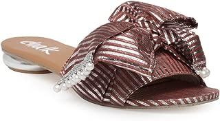 Chalk Studio - Red Metallic Bowtie - Sandals
