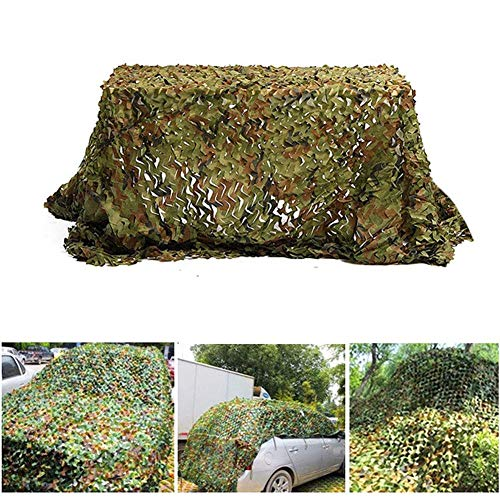 FHQCU 2x3M Caza de Camuflaje Shade Sail Mesh Jungle Shade Net, Netting Army Camping Car Hide Cover Sun Shelter Beach Carpa,6x6m