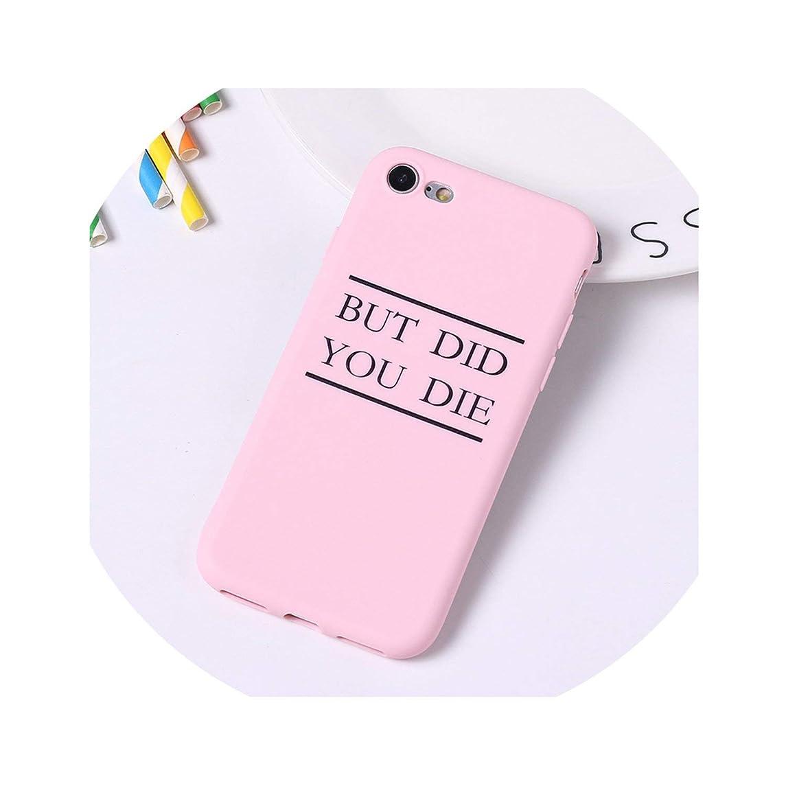 Cartoon Color Back Cover Letter Quote Soft Phone Case Fundas for iPhone 7 Plus 7 6Plus 8 8Plus X Xs Max,13,for iPhone 8Plus