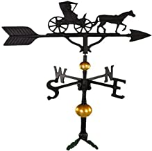 product image for Montague Metal Products 32-Inch Deluxe Weathervane with Satin Black Country Doctor Ornament