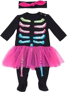 Unbekannt Bom Bom Baby Mädchen Jungen Halloween Kürbis Footies Schlafstrampler Nitnightsuit