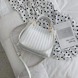 LIMING Super fire female bag cartoon handbag fashion jelly transparent bag girl shoulder bag tide,Colour:Black (Color : Wh...