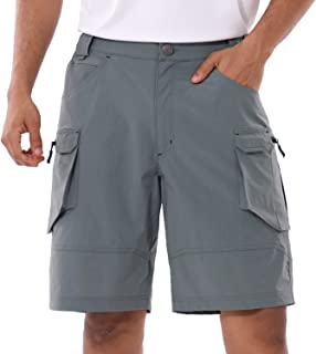 BALEAF Men's Summer Cargo Shorts UPF50+ Sun Protection Multi Pocketed Quick Dry Tactical Short Outdoor Hiking Camping Travel