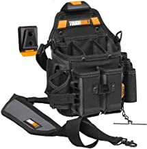 ToughBuilt - Journeyman Electrician Pouch + Shoulder Strap Adjustable Flashlight Holder Adjustable Tool Pockets 21 Pockets and Loops (Patented ClipTech Hub & Belts) (TB-CT-114- 2)