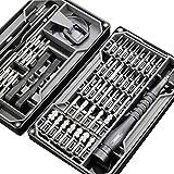 UXZDX Set de Destornillador de precisión 73 en 1 Magnético Torx bit Tornillo de bit Ratchet Hex bits MultiSools Reparación de teléfonos móviles Herramientas de Mano