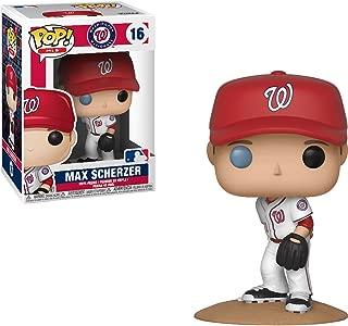 Max Scherzer [Washington Nationals]: x Funko POP! MLB Vinyl Figure & 1 POP! Compatible PET Plastic Graphical Protector Bundle [#016 / 30243 - B]