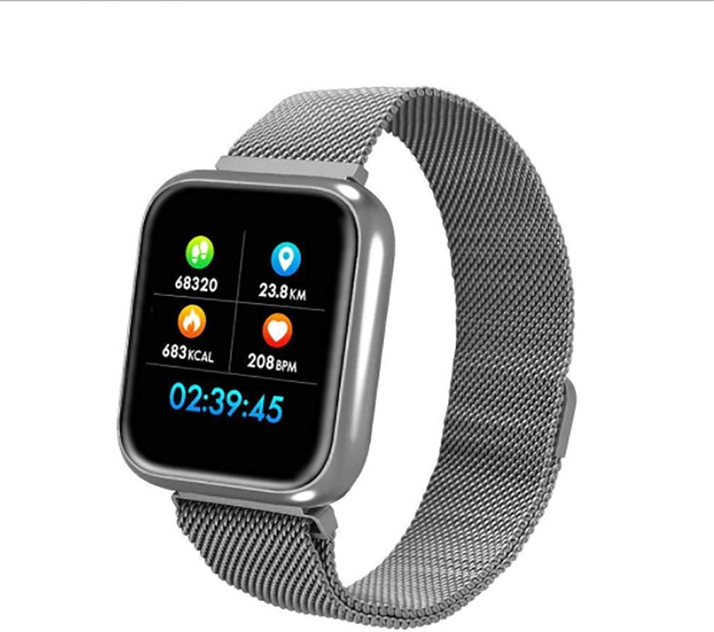 RHBKW Fitness Tracker Herzfrequenz-Blautdruckmessgert Smart Watch wasserdicht mit Schlaf-Blautsauerstoffmonitor-Zhler Schrittzhler für Android iOS,Silber