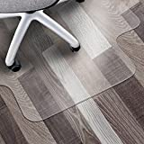 Matladin 48' x 36' Heavy Duty PVC Chair Mat for Hardwood Surface Floor Office,Easy to Roll Out, Lays Flat Quick, 1/8 inches Thick Transparent Desk Chair Mat